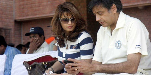 NEW DELHI, INDIA - MARCH 7: (File photo) Sunanda Pushkar Tharoor and Shashi Tharoor, External Affairs...