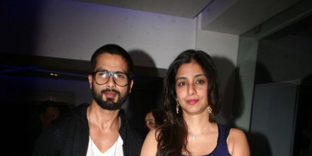 MUMBAI, INDIA MARCH 26: Shahid Kapoor and Tabu during the screening of the movie Inam in Mumbai.(Photo...