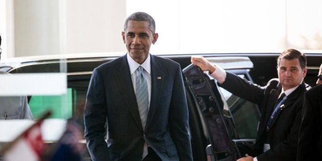 NAYPYIDAW, MYANMAR - NOVEMBER 13: U.S President Barack Obama arrives for the second day of the ASEAN...