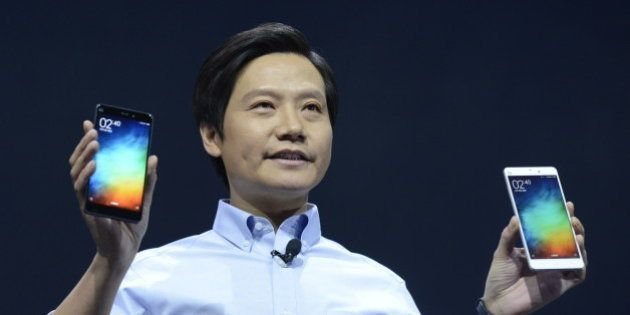 BEIJING, CHINA - JANUARY 15: (CHINA OUT) Lei Jun, chairman and CEO of China's Xiaomi Inc. presents the...