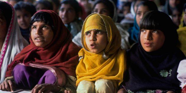 Primary School in a Muslim area, Rampur, Uttar Pradesh, India. (Photo by: IndiaPictures/UIG via Getty