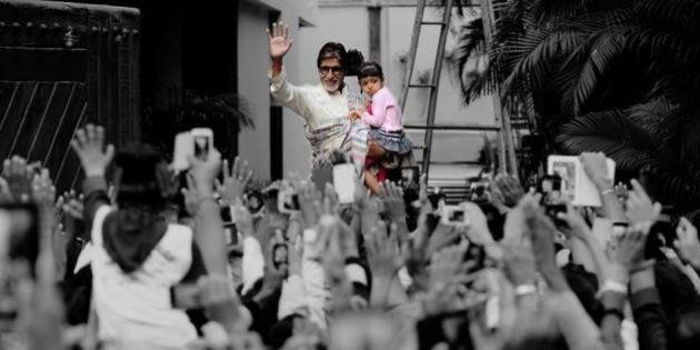 Amitabh Bachchan Takes Granddaughter Aaradhya Out To Meet Traditional Sunday Crowd Outside His Home