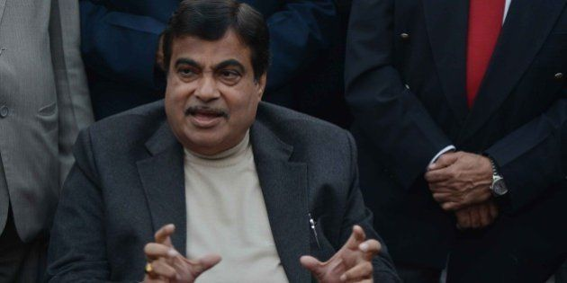 NEW DELHI, INDIA DECEMBER 30: Minister of Road Transport and Highways Nitin Gadkari during a Press Conference...