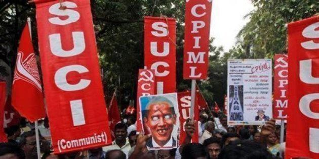 CPI(M) Holds Nationwide Protest Against President Obama