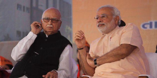 Gujarat state chief minister and Bharatiya Janata Party's prime ministerial candidate Narendra Modi,...