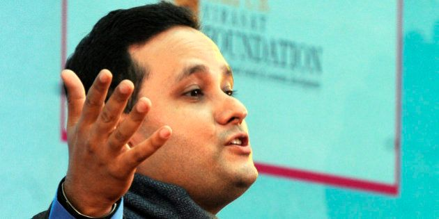 JAIPUR, INDIA - JANUARY 23: Indian novelist Amish Tripathi at session on 'the Conflict of Dharma in the...