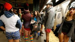 No Pants Subway Ride: Women Dare To Bare, Men Hide in