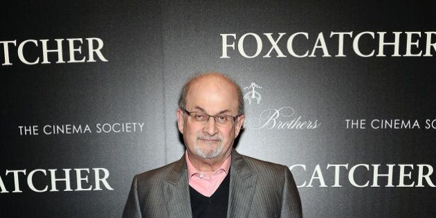 NEW YORK, NY - NOVEMBER 11: Salman Rushdie attends Sony Pictures Classics screening of 'Foxcatcher' hosted...