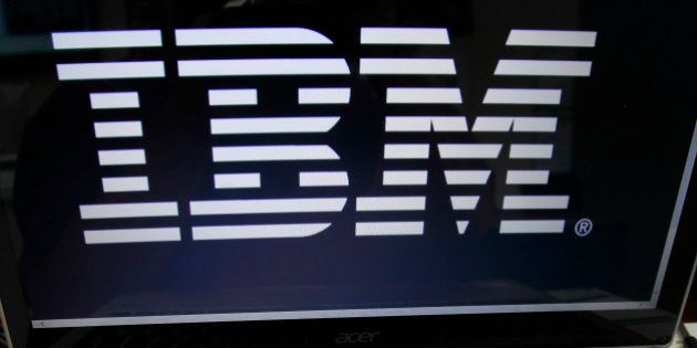 FILE - In this Tuesday, July 16, 2013, file photo, an IBM logo is displayed in Berlin, Vt. IBM is paying...