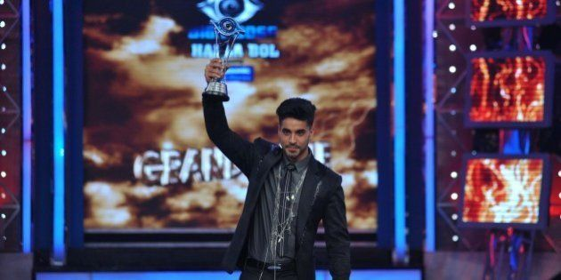 Indian television actor Gautam Gulati poses for a photograph during the 'Bigg Boss Seaon 8' final in...