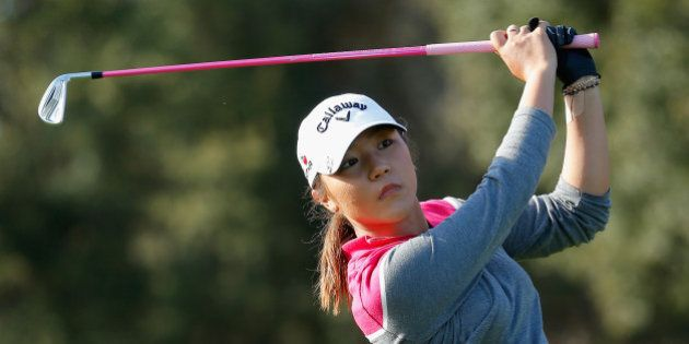 OCALA, FL - JANUARY 31: Lydia Ko of New Zealand watches her tee shot on the 15th hole at the Coates Golf...