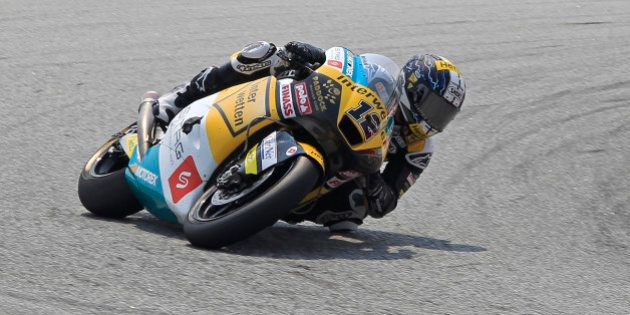 Moto2 rider Thomas Luthi of Switzerland rides his Suter during the Malaysian Motorcycle Grand Prix in...