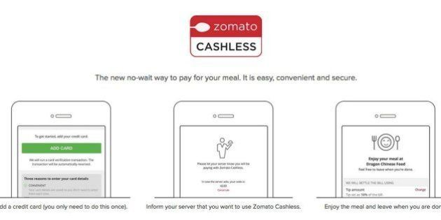 Zomato Introduces Cashless Payments In Dubai, May Come To India