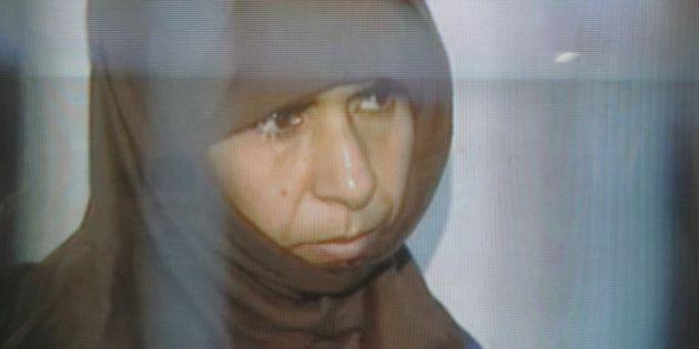 This image made from Jordan television Monday, April, 24, 2006. shows Sajida Mubarak al-Rishawi. Veiled...