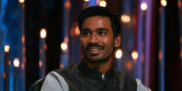 MUMBAI, INDIA JUNE 19: Dhanush on the sets of Jhalak Dikhla Jaa in Mumbai. (Photo by Milind Shelte/India...