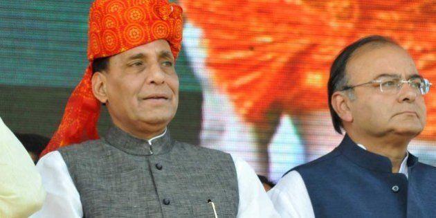 PATNA, INDIA - OCTOBER 27: Gujarat CM and BJP's prime ministerial candidate Narendra Modi, party president...