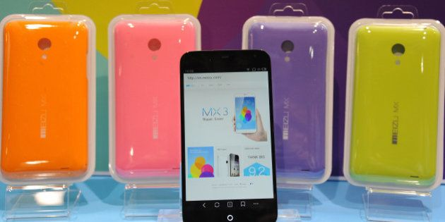 The MX3 Meizu smartphone from Chinese company Future Technology Enterprise Ltd is displayed at 'CES:...