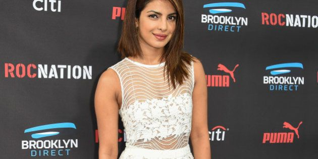 Priyanka Chopra arrives at the Roc Nation Pre-Grammy Brunch at RocNation Offices on Saturday, Feb. 7,...
