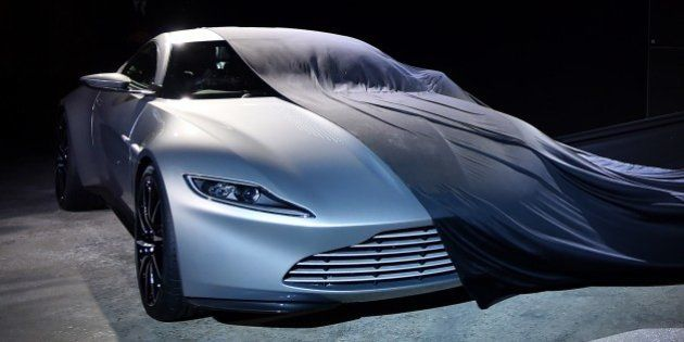 The new Bond car, an Aston Martin DB10, is unveiled during an event to launch the 24th James Bond film...