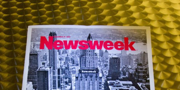This December 24, 2012 photo shows the final print edition of Newsweek, seen here in Washington, DC....