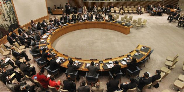 NEW YORK, NY - SEPTEMBER 28: The United Nations Security Council meets at U.N. headquarters on September...