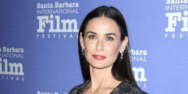 GOLETA, CA - NOVEMBER 16: Demi Moore arrives at Santa Barbara International Film Festival: 9th Annual...