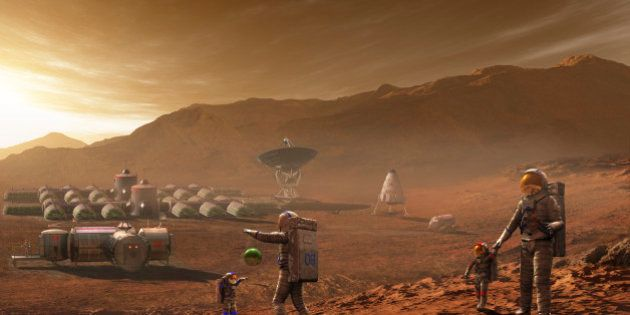 Future Mars colonists may have children who have never known the earthly blue skies of their parents...
