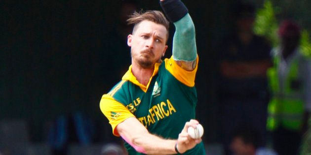 South Africa's Dale Steyn, bowls during the one day international cricket match against West Indies in...