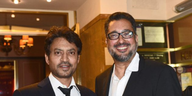MUNICH, BAYERN - JUNE 30: Irrfan Khan and director Anup Singh attend the 'Qissa' Premiere as part of...