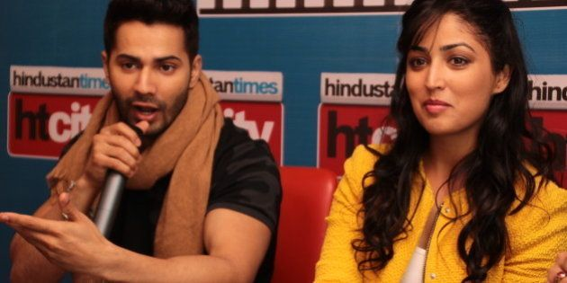 NEW DELHI, INDIA - FEBRUARY 2: Bollywood actors Varun Dhawan and Yami Gautam during an exclusive interview...
