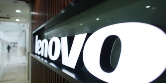 WUHAN, CHINA - DECEMBER 19: (CHINA OUT) A Lenovo's logo is seen at the Lenovo MIDH (Mobile Internet and...