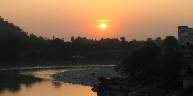 Sunset over the Ganga in