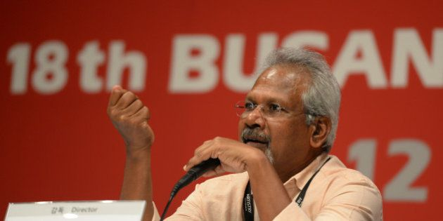 Indian film director Mani Ratnam of the movie 'Radal' speaks during a press conference at the 18th Busan...