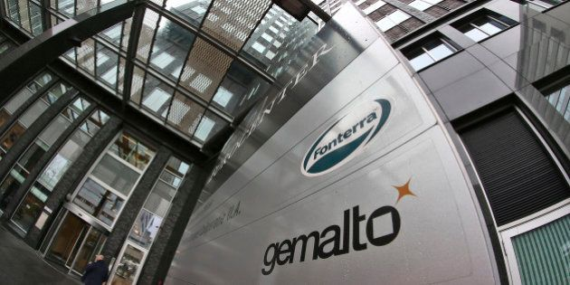 Exterior view of the building housing the head office of Gemalto, which