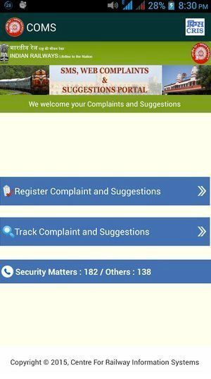 Indian Railways Launches Mobile App For Customer
