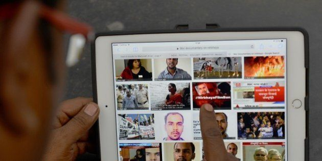 An internet search yields thumbnail results of news related to the controversial BBC documentary on the...