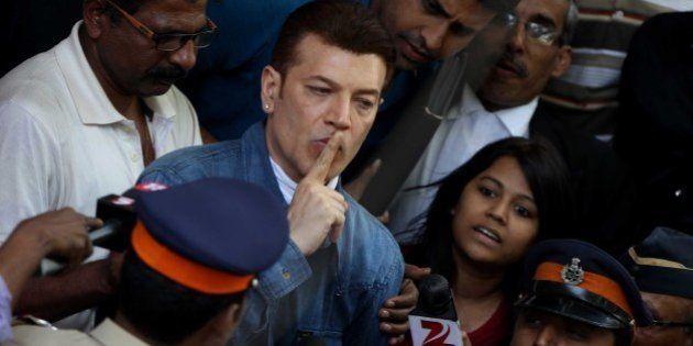 MUMBAI, INDIA - MARCH 8: Bollywood actor Aditya Pancholi produced at the Bandra court and granted bail,...