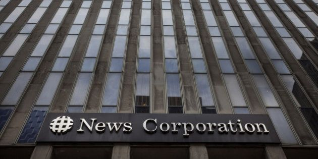 The News Corp. headquarters building stands in New York, U.S., on Thursday, July 24, 2014. News Corp....