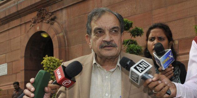 NEW DELHI, INDIA - FEBRUARY 23: Union Minister of Rural Development, Panchayati Raj, Sanitation & Drinking...