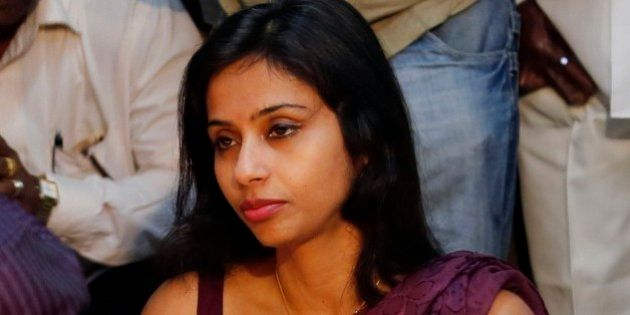 Indian diplomat Devyani Khobragade offers her respects at Chaitya Bhoomi, a memorial to Indian freedom...
