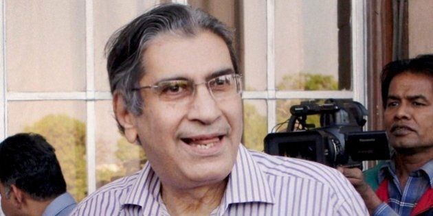 An undated file photo of journalist, author and founding editor of India's Outlook magazine Vinod Mehta...