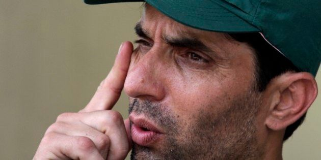 FILE- In this Wednesday, June 4, 2014 file photo, Misbah-ul-Haq, Pakistani cricket team skipper speaks...