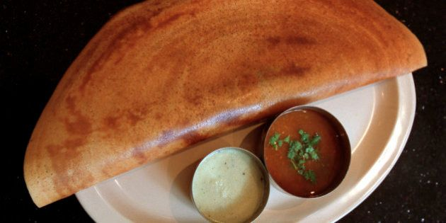 Restaurant Review of The Udipi Palace on 1460 Gerrard St. E. Shown are the Falooda and Masala Dosa. (Photo...