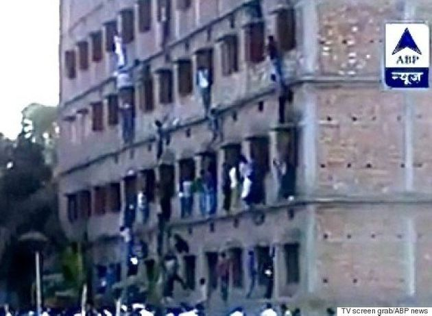 Mass Cheating: Parents Climb School Wall To Pass Chits To Class 10 Students In