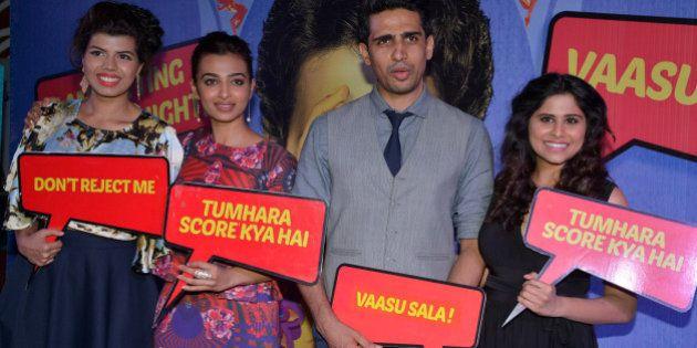 MUMBAI,INDIA MARCH 17: Veera Saxena, Gulshan Devaiah, Radhika Apte, Sai Tamhanka at the premier of the...