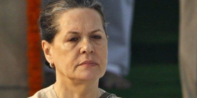 FILE- In this Oct. 2, 2010 file photo, India's Congress party President Sonia Gandhi visits the Mahatma...