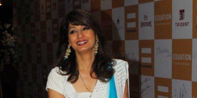 MUMBAI, INDIA - FEBRUARY 11: (File photo) Sunanda Pushkar Tharoor, wife of Indian politician Shashi Tharoor...