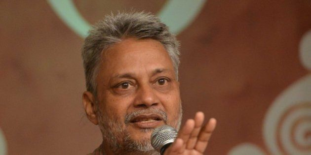 NEW DELHI, INDIA SEPTEMBER 02: Rajendra Singh speaks at the Panchayat Aaj Tak 2014 in New Delhi on Tuesday,...
