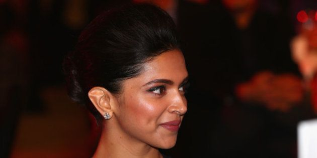 DELHI, INDIA - DECEMBER 07: Deepika Padukone at the Coca-Cola gala dinner during the Coca-Cola International...
