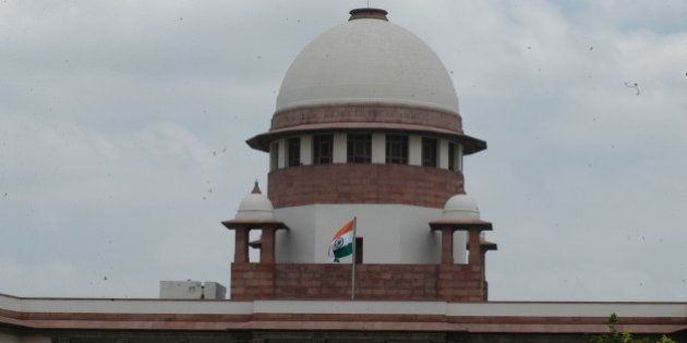 INDIA - AUGUST 08: View of the Supreme Court Building in New Delhi, India (Photo by Yasbant Negi/The...
